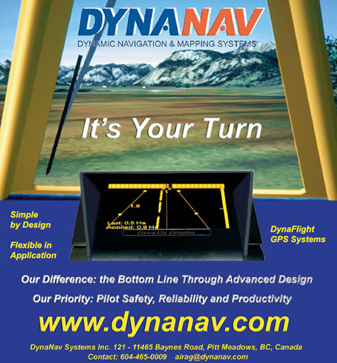 GPS Navigation Agricultural (Ag) Aircraft by DynaNav