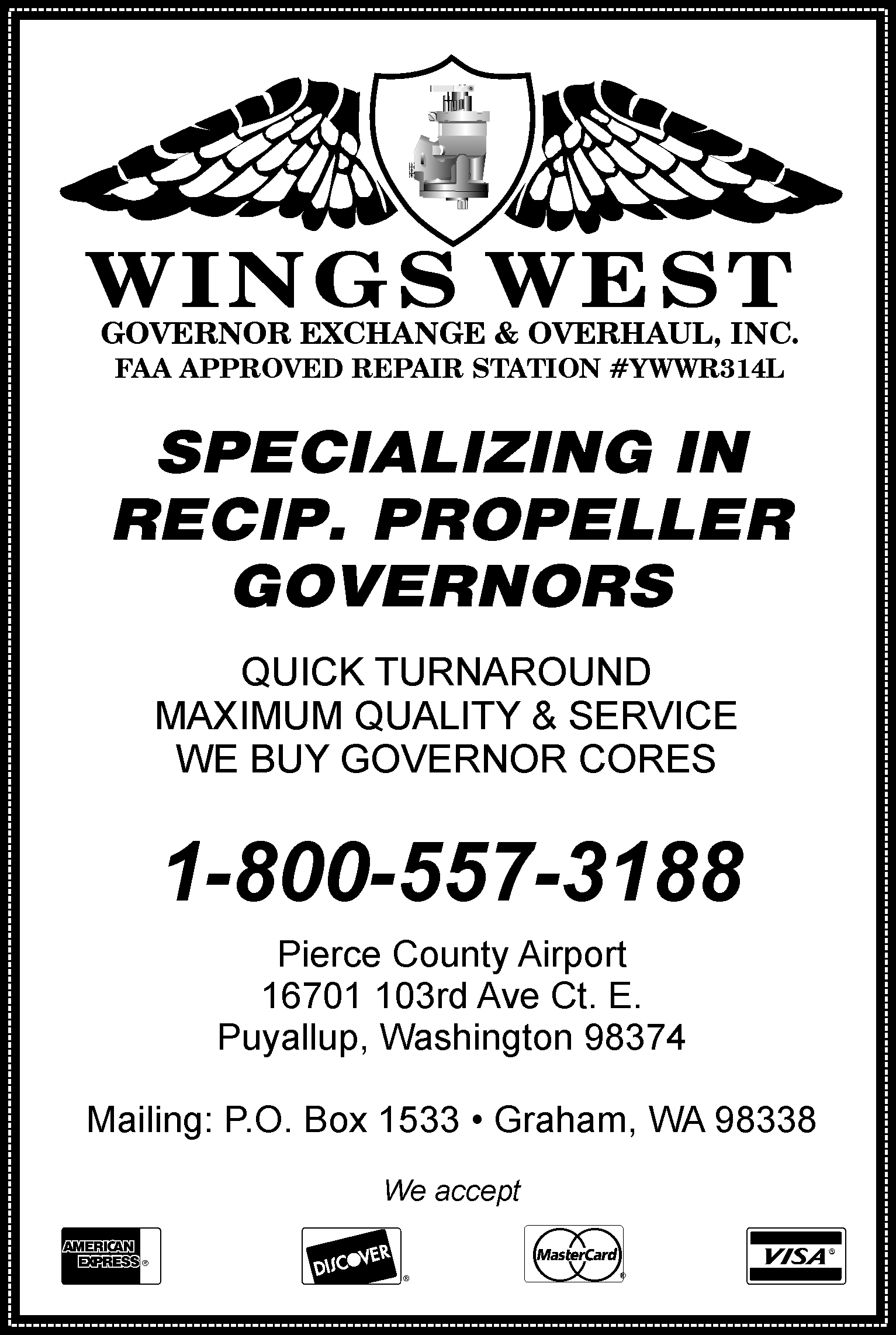 Wings West Governors