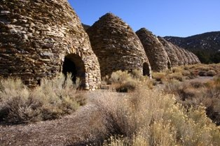 Death Valley Charcoal Kilns Furnace Creek Pink Jeep