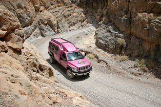 Titus Canyon Pink Jeep Furnace Creek